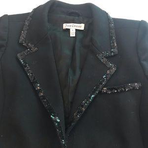 Juicy Couture black sequin blazer